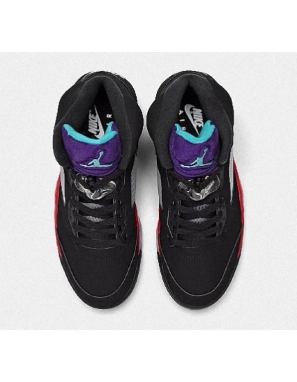 Air Jordan 5 'Top 3' Black Fire Red