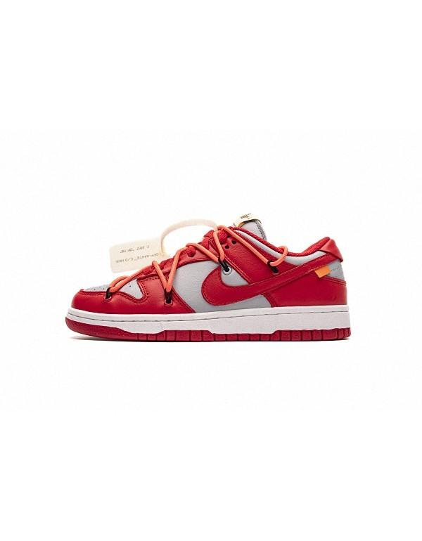 Off-White x SB Dunk Low University Red CT0856-600