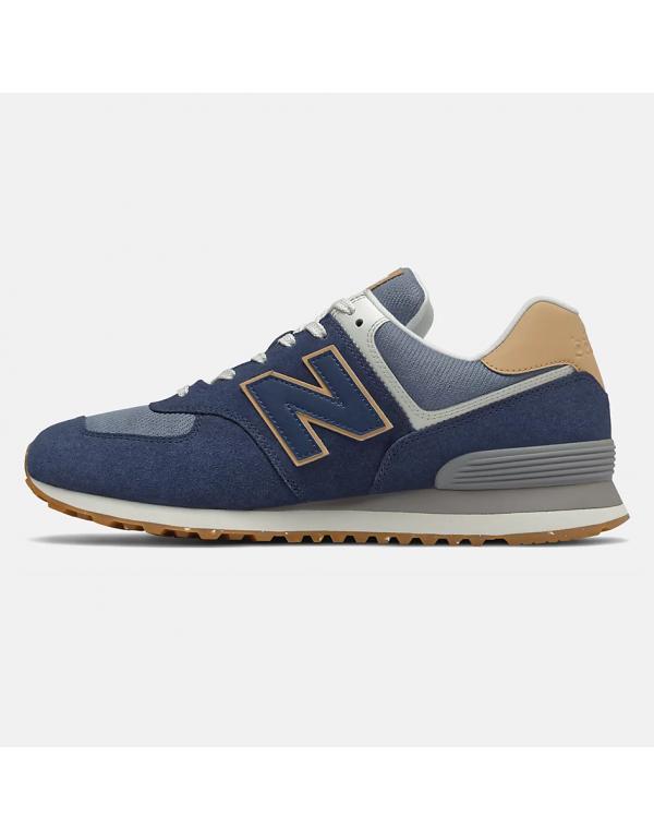 New Balance 574 Natural indigo with maple
