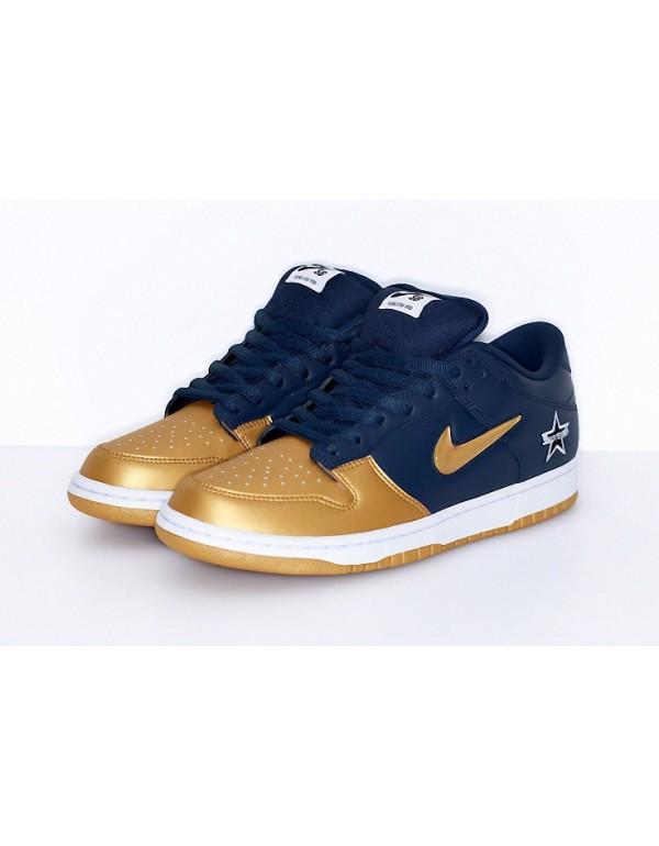 Supreme x Nike SB Dunk Low Metallic Gold CK3480-700