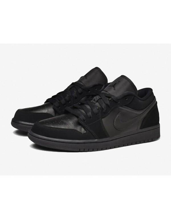 """Air Jordan 1 LOW"""" Triple Black"""" 553558-025"""