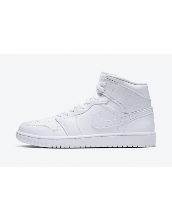 "Air Jordan 1 Mid "" Triple White""  Return..."