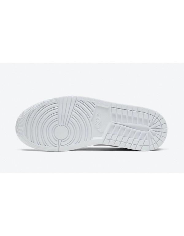 """Air Jordan 1 Mid """" Triple White""""  Returns For Summer 554724-130"""