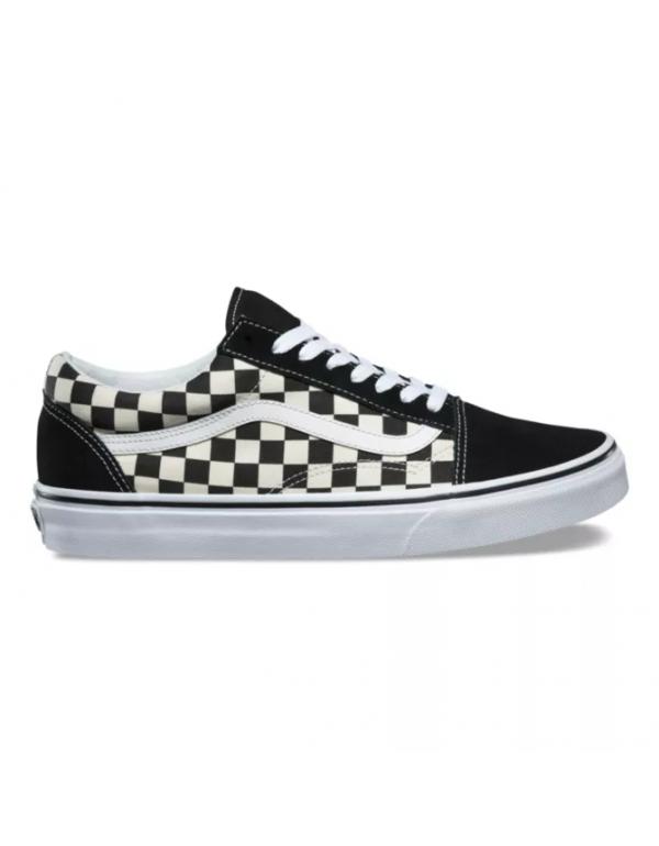 Vans  OLD SKOOL Black and white checkerboard latti...