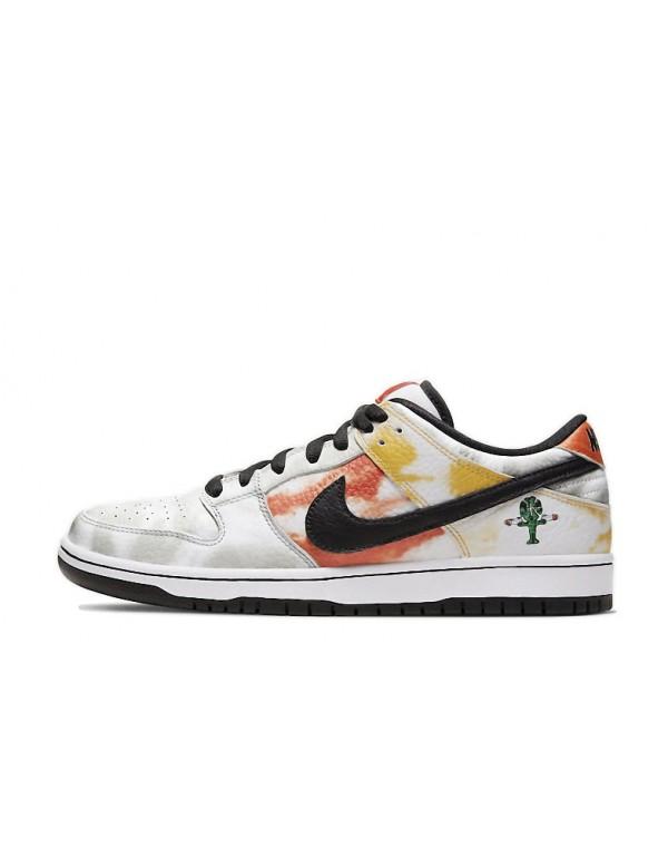 """Nike SB Dunk Low White """"Raygun Tie-Dye"""" BQ6832..."""