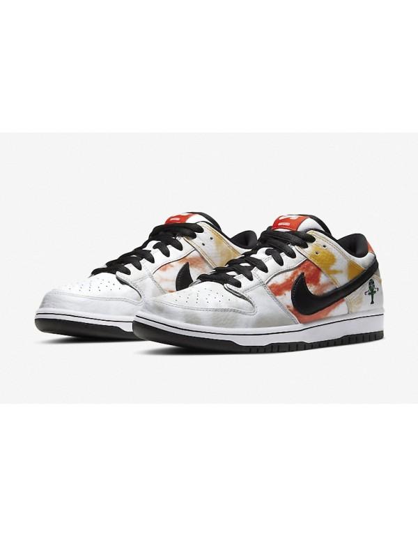 """Nike SB Dunk Low White """"Raygun Tie-Dye"""" BQ6832-101"""