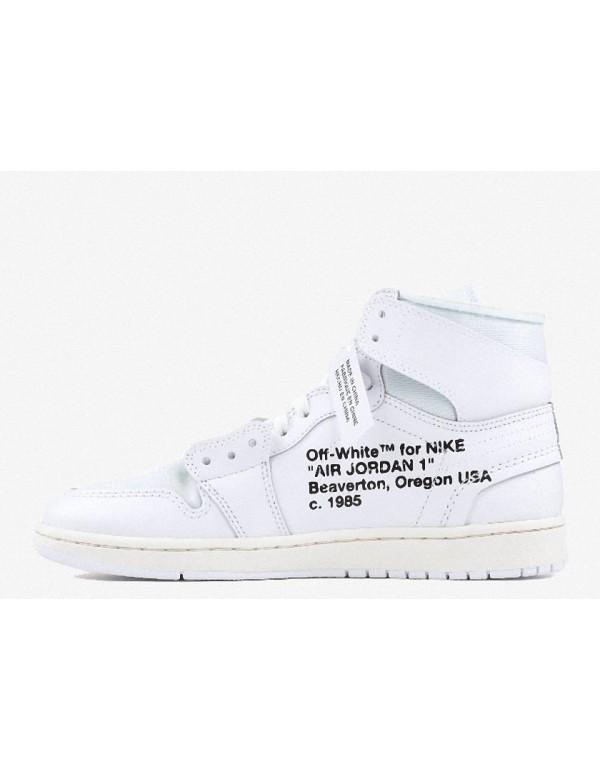 """OFF-WHITE X Air Jordan 1 Retro High OG 2018 """"WHITE"""" AQ 0818 100"""