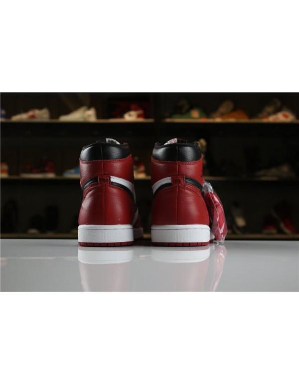 2018 Air Jordan 1 Retro High OG Homage To Home Black/White-University Red For Sale