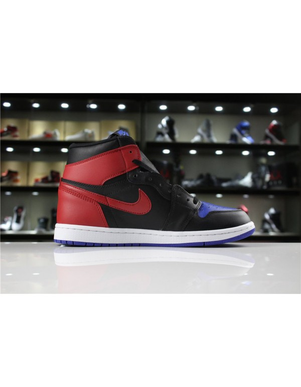 Men's Air Jordan 1 Retro High OG Top 3 Black/Varsity Red-Varsity Royal For Sale