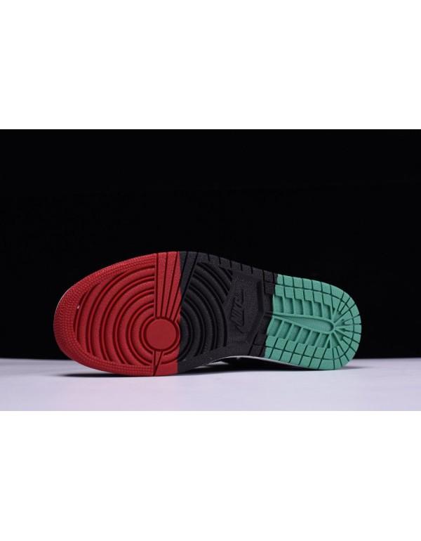 Air Jordan 1 Retro High Flyknit BHM Black/Lucid Green/University Red-Black AA2426-026
