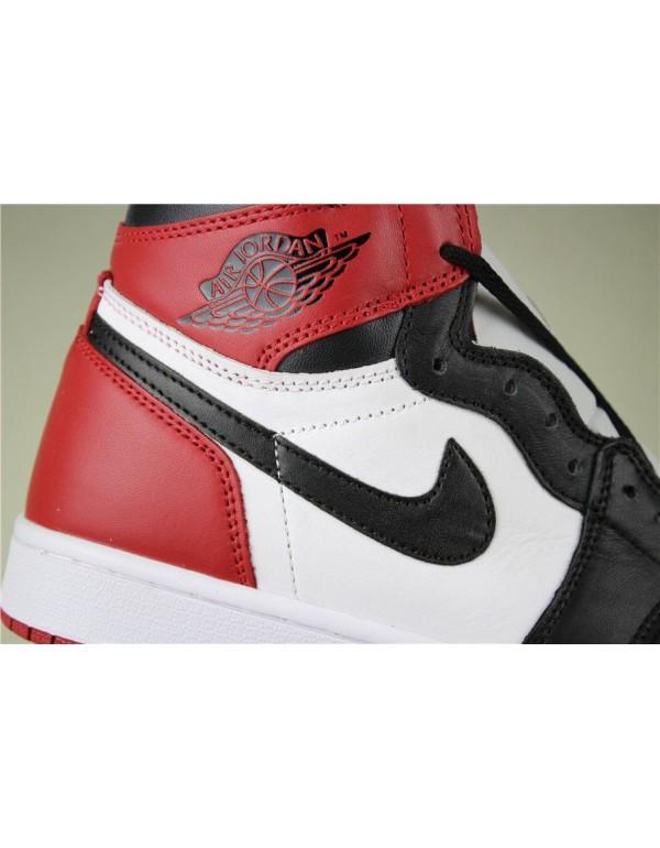 Air Jordan 1 Retro High OG Black Toe White/Black-Gym Red 555088-125