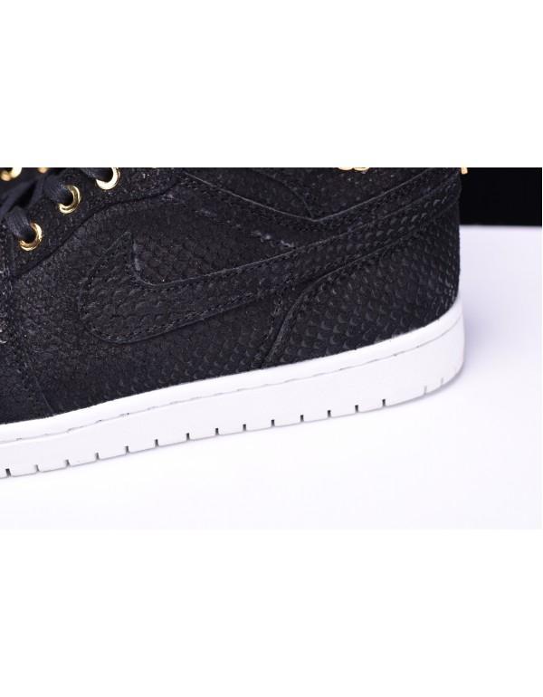 Air Jordan 1 Retro High OG Pinnacle Black/Metallic Gold-White 705075-030
