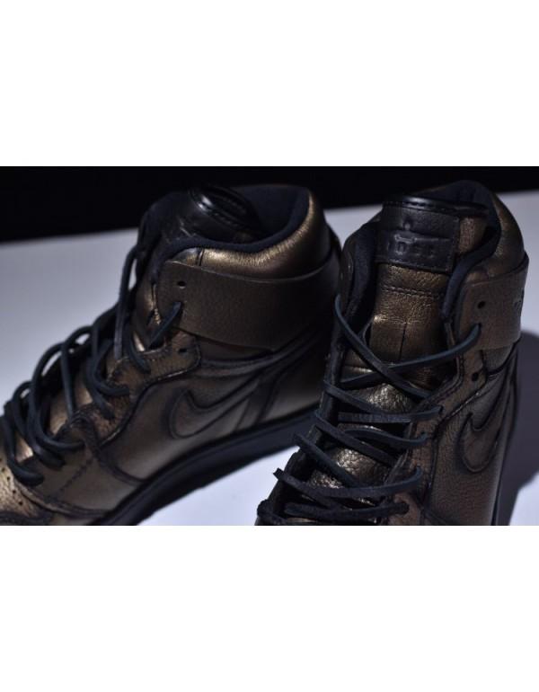 New Air Jordan 1 Retro High OG Wings Metallic Gold/Black AA2887-035