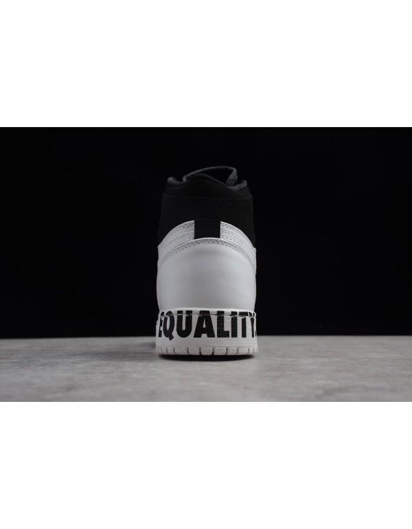 Air Jordan 1 Retro Hight Equality Black/White-Metallic Gold AQ7474-001