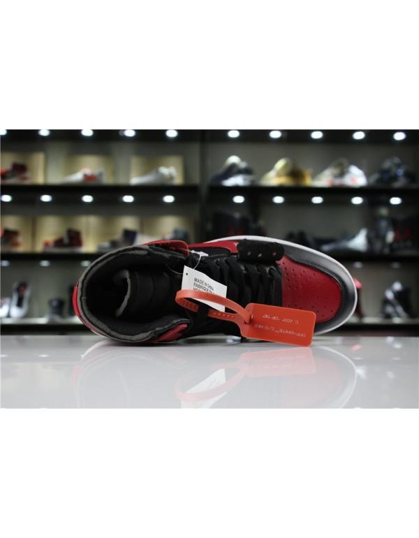 OFF-WHITE x Air Jordan 1 High OG 10X Bred Black/Varsity Red-White AA3834-023