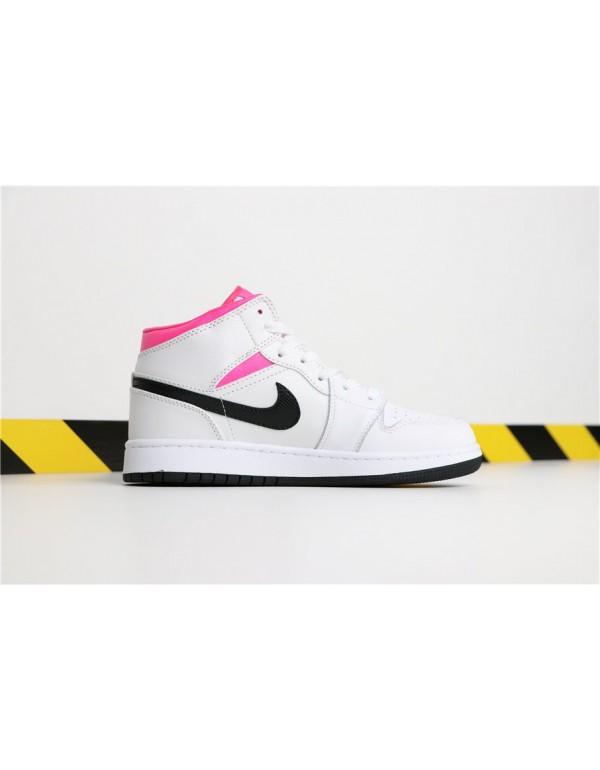 Air Jordan 1 Mid GS Hyper Pink White/Black-Hyper P...