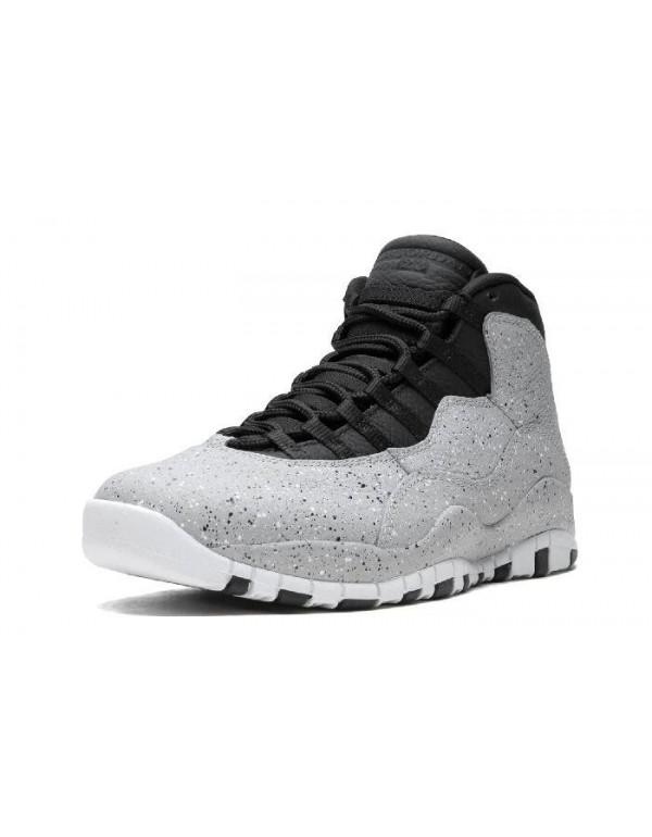 Air Jordan 10 Cement Smoke Grey/Black-University R...
