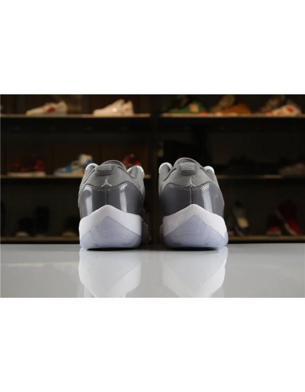 2018 Air Jordan 11 Low Cool Grey Medium Grey/Gunsmoke-White Men's Size For Sale