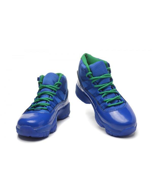 New Air Jordan 11 GS Blue Green Basketball Shoes