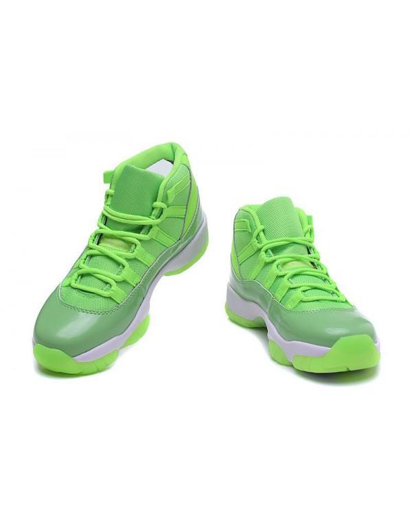 New Air Jordan 11 GS Neon Green PE Basketball Shoe...