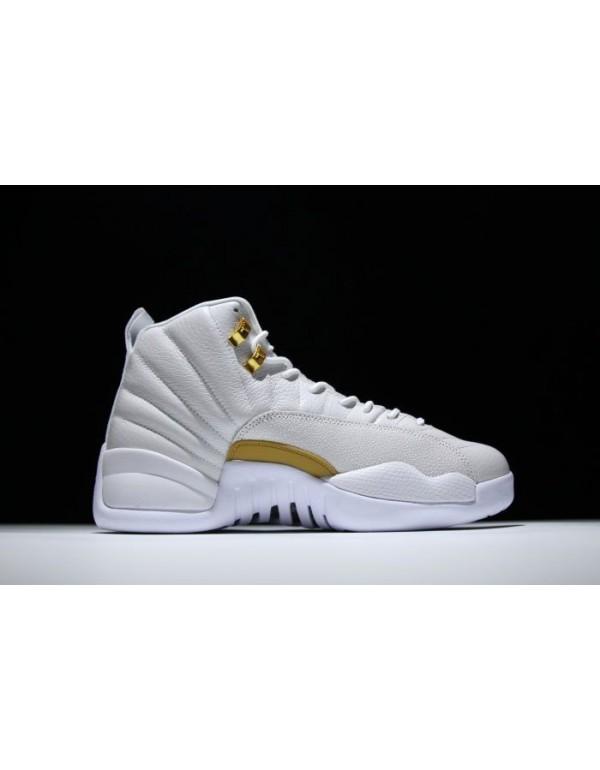 Air Jordan 12 OVO White/Metallic Gold-White 873864...