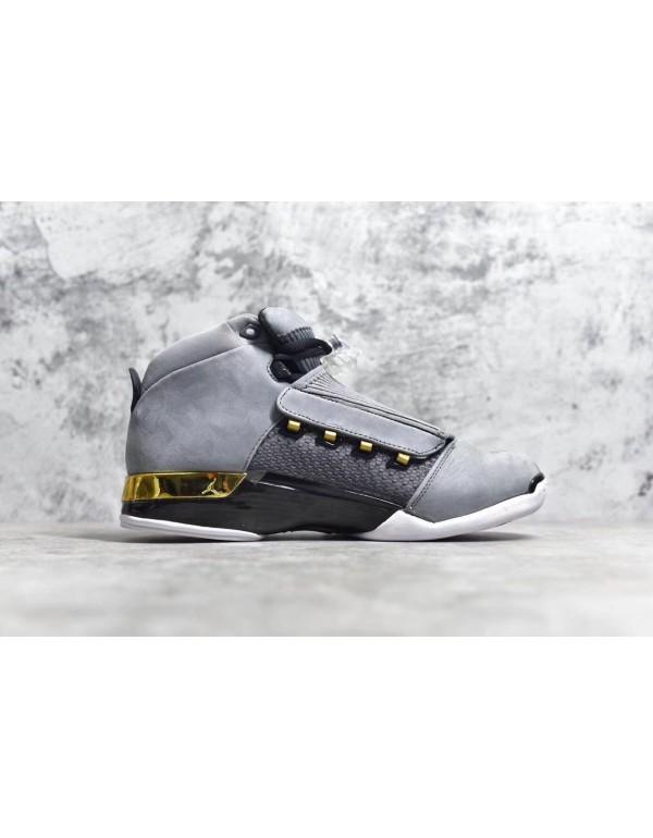 Air Jordan 17 Trophy Room Cool Grey/Metallic Gold-...