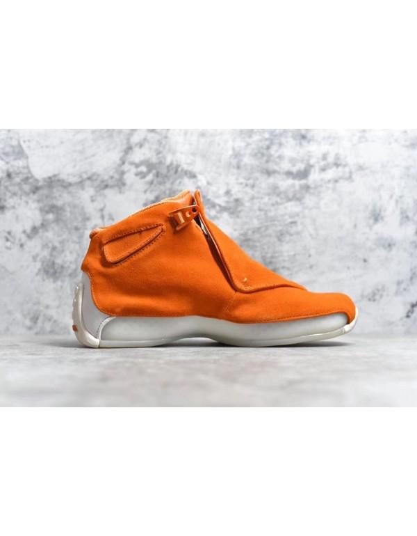 Air Jordan 18 Orange Suede Campfire Orange/Campfir...