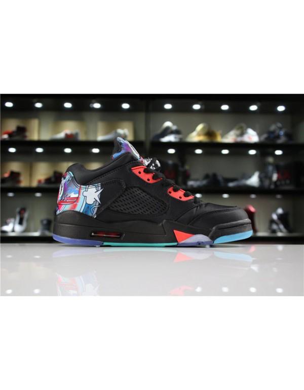 Air Jordan 5 Low Chinese New Year Black/Bright Cri...