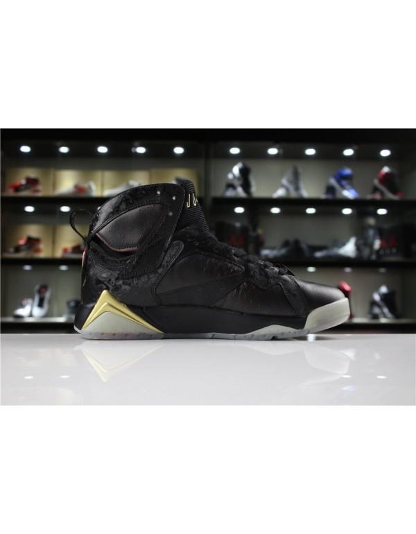 Cheap Mens Air Jordan 7 Doernbecher Black Gold For...