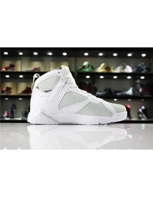 Air Jordan 7 Pure Money White/Metallic Silver-Pure...