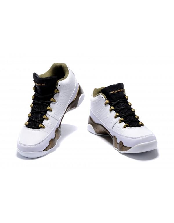 Air Jordan 9 Low Statue White/Black-Militia Green ...