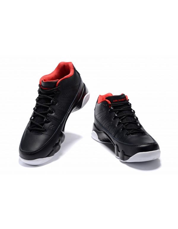 Air Jordan 9 Retro Low Bred Black/Gym Red-White Me...