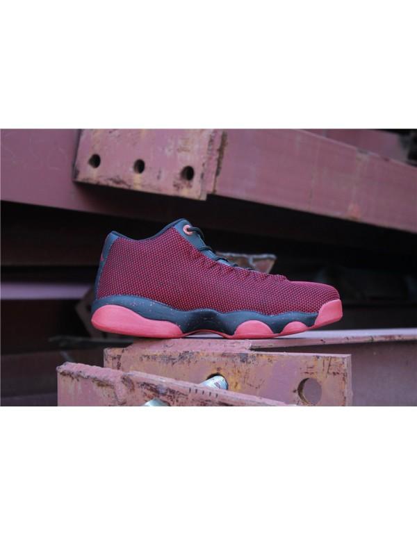 New Air Jordan Horizon Low AJ13 Gym Red/Black Men'...