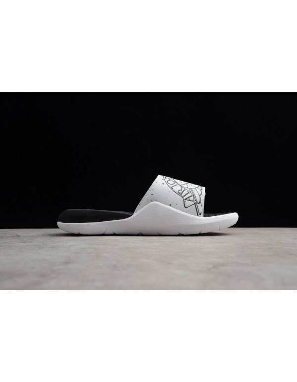 Men's Jordan Hydro 7 White/Black-Sprayed Point AA2...