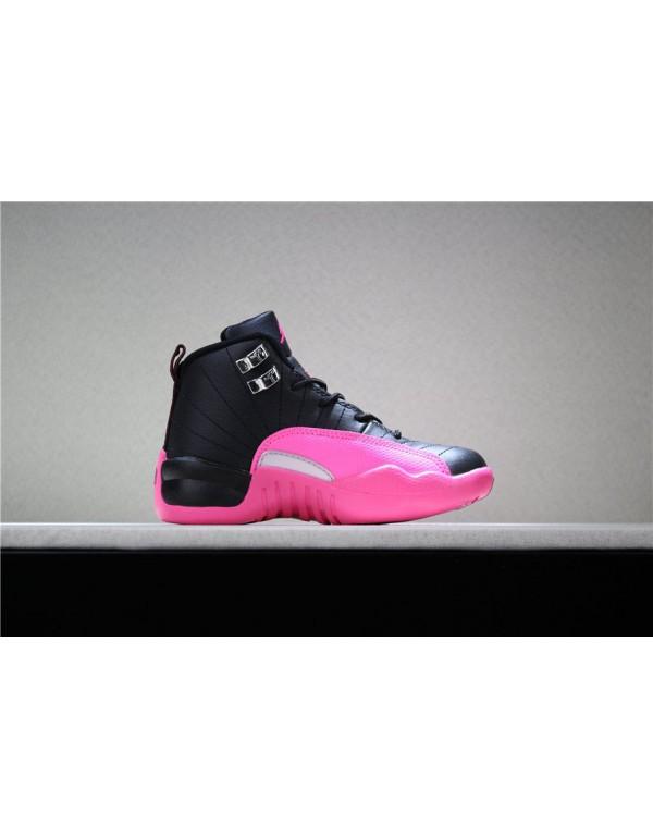 Kid's Air Jordan 12 Deadly Pink Free Shipping