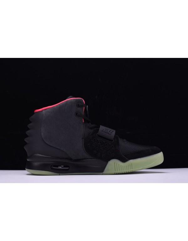 Men's Nike Air Yeezy 2 NRG Black/Solar Red 508214-...
