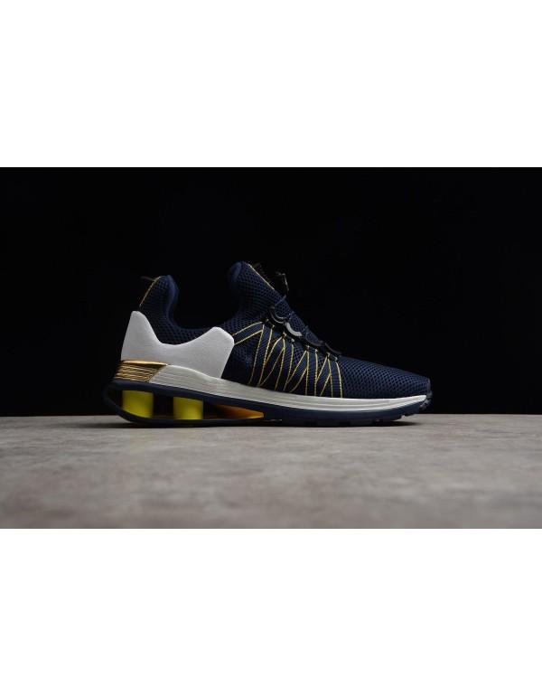 Nike Shox Gravity Midnight Navy/Metallic Gold Men'...