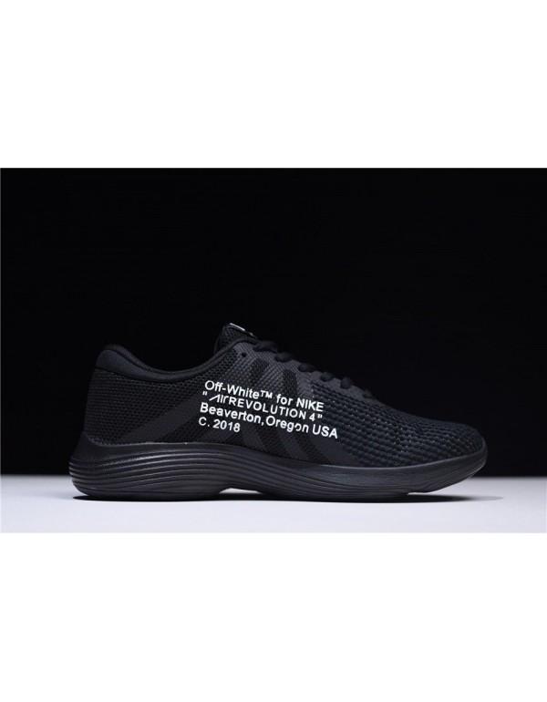 Off-White x Nike Revolution 4 Black Mens and WMNS ...