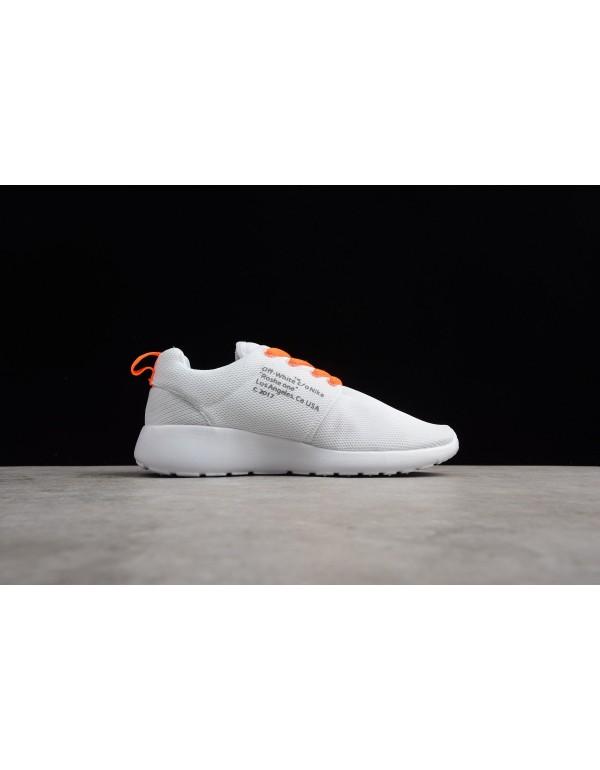 Off-White x Nike Roshe Super Run White/Black-Orang...