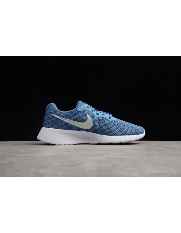 WMNS Nike Tanjun Aluminum Blue/Black-White 812655-...