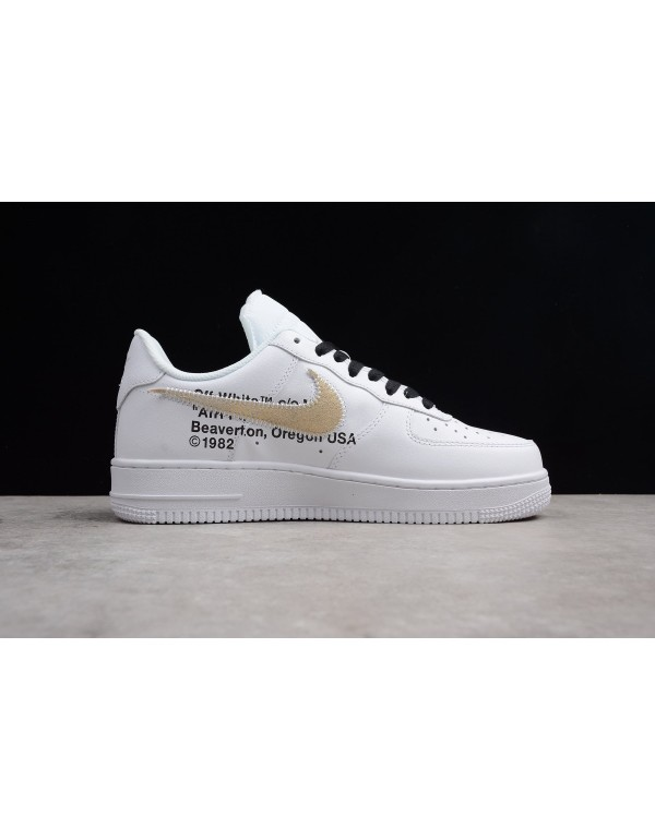 2018 OFF-WHITE x Nike Air Force 1 Low White Black ...