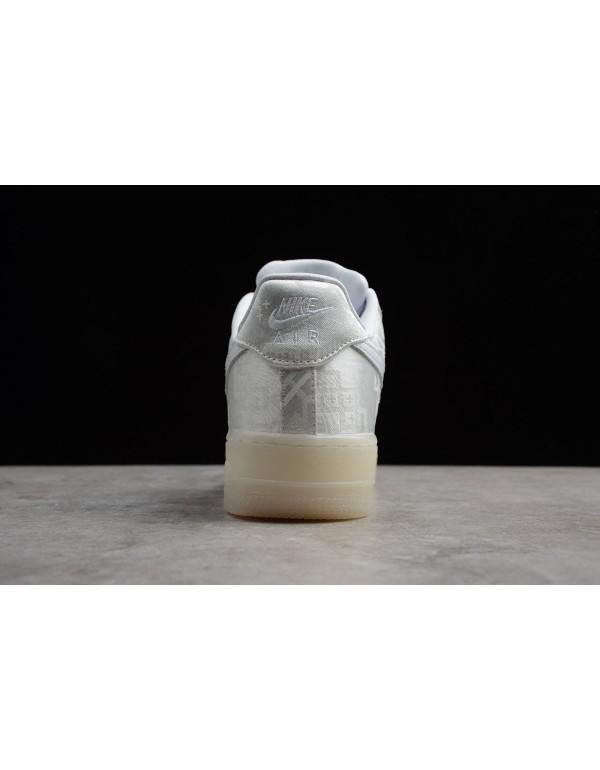 Men's and Women's CLOT x Nike Air Force 1 Premium Triple White AO9286-100