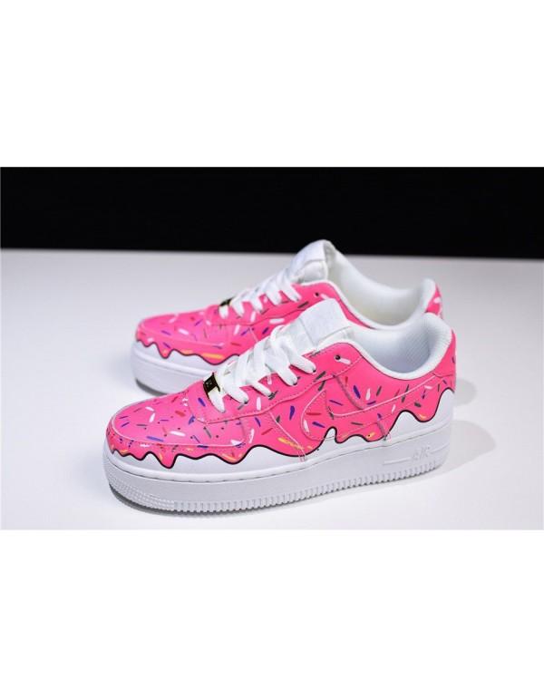 Custom Sneaker BOYZ x Nike Air Force 1 Low Pink White Women's Size 596728-818
