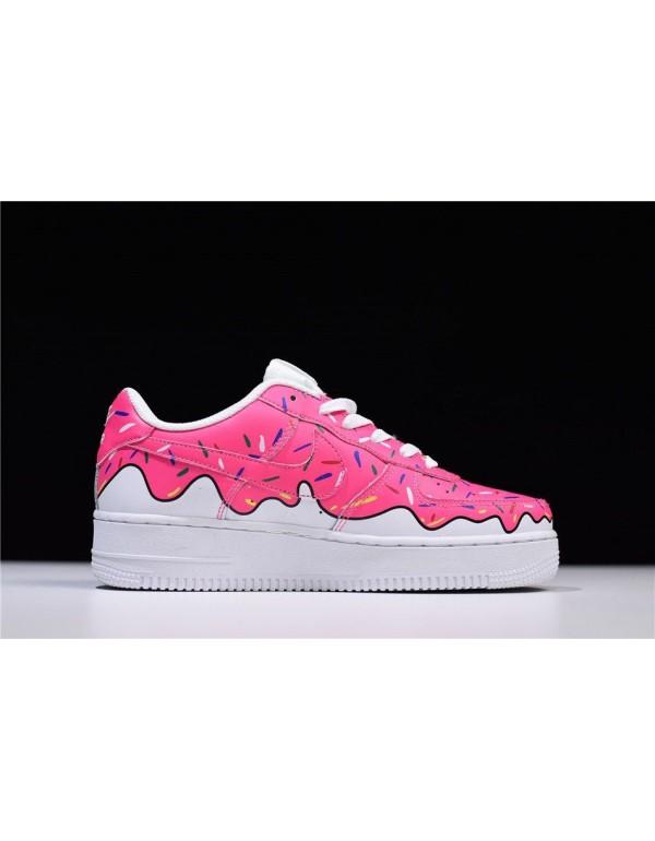 Custom Sneaker BOYZ x Nike Air Force 1 Low Pink Wh...