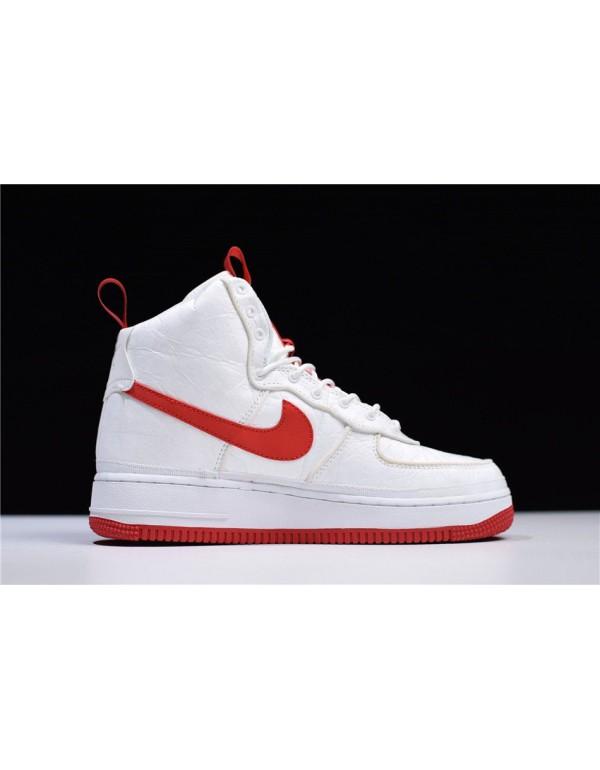 Magic Stick x Nike Air Force 1 High '07 QS White/Red 573967-100