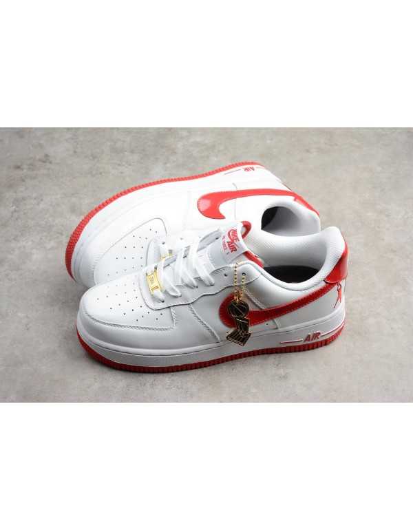 Mens and WMNS Nike Air Force 1 Retro CT16 QS White Red AQ4226-126