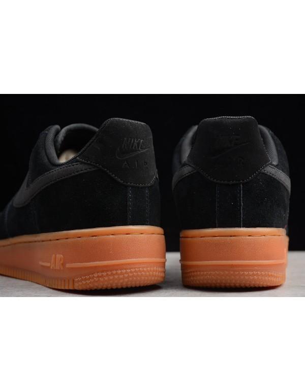 Men's and Women's Nike Air Force 1 '07 SE Black Gum AA0287-002