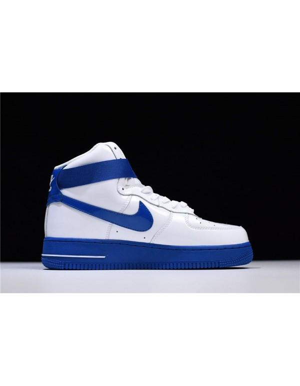 Men's and Women's Nike Air Force 1 High Sheed Rude Awakening White/Blue Jay AQ4229-100