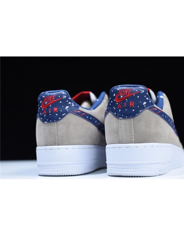 Men's and Women's Nike Air Force 1 Low Moon Landing Moon Particle/Neutral Indigo AQ0556-200
