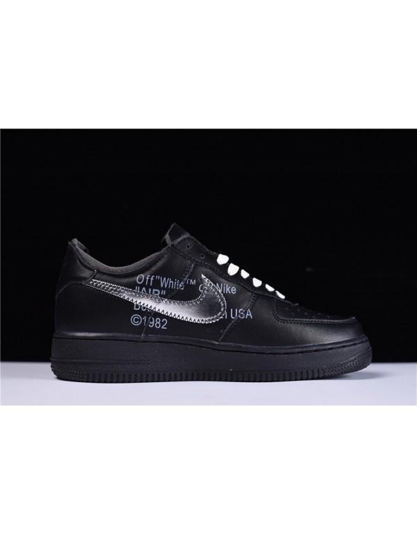 2018 Off-White x MoMA x Nike Air Force 1 Low Black...